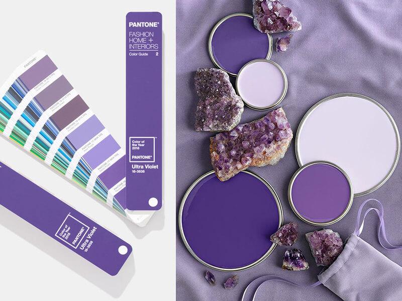 paleta ultra violet de Pantone