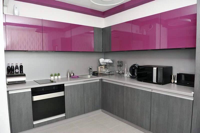forrar armarios de la cocina con vinilo ultra violet y vinilo gris