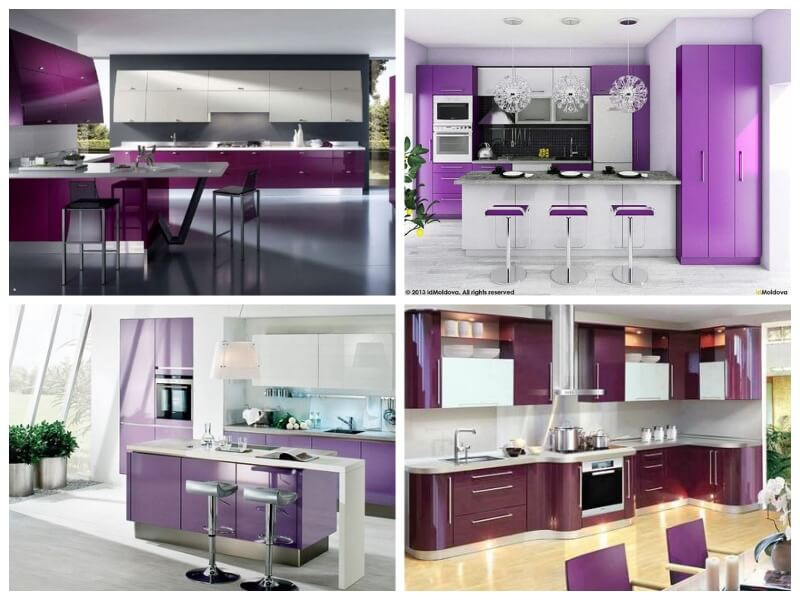forrar la cocina con vinilo ultra violet combinado con blanco