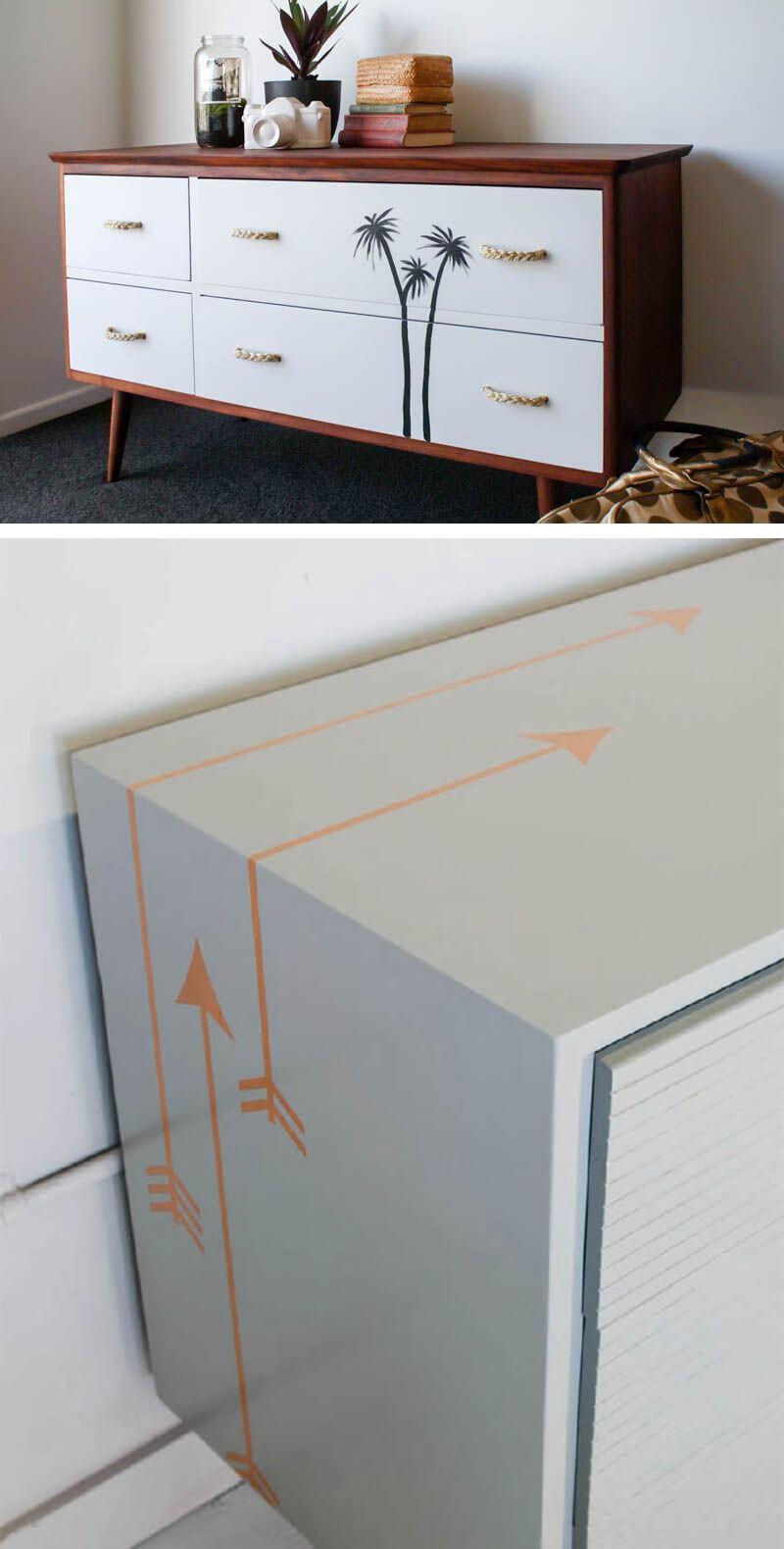 Decoracion De Muebles Pintados.Guia Practica Para Colocar Vinilo Adhesivo Sobre Muebles Pintados A