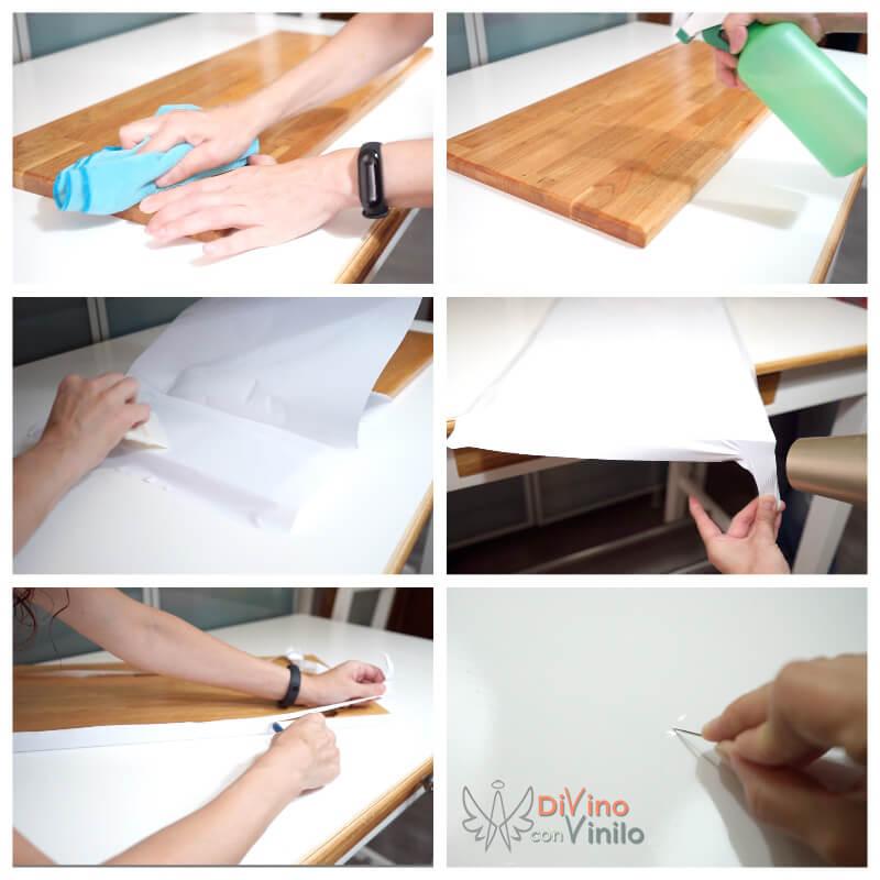 como forrar con vinilo adhesivo los armarios de cocina