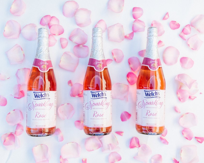 Welch's Latest Non-Alcoholic Sparkling Rosé is Summer in a Bottle!