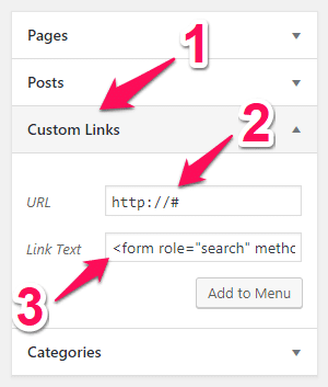 Add The WordPress Search Field into Your Primary Menu Bar