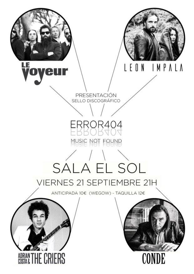 Presentación Error 404 Music Not Found @ El Sol | Madrid | Comunidad de Madrid | España