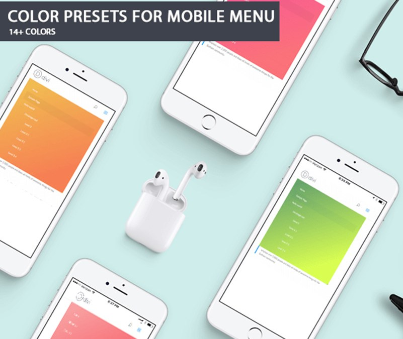 Color Presets For Divi Mobile Menu