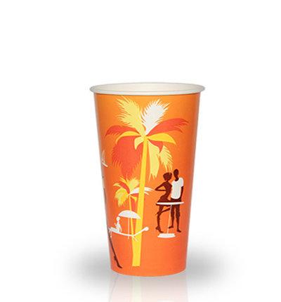 """Бумажный стакан 330 мл """"Пляж"""" 50 шт"""