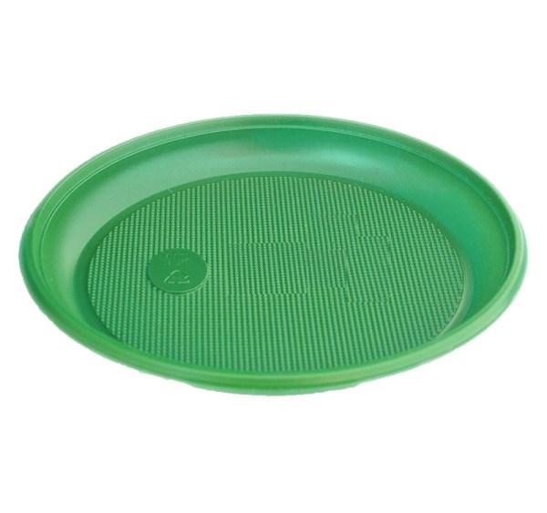 Тарелка Ø165мм зеленая 100 шт