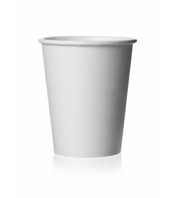 Бумажный стакан 250 мл 50 шт Белый
