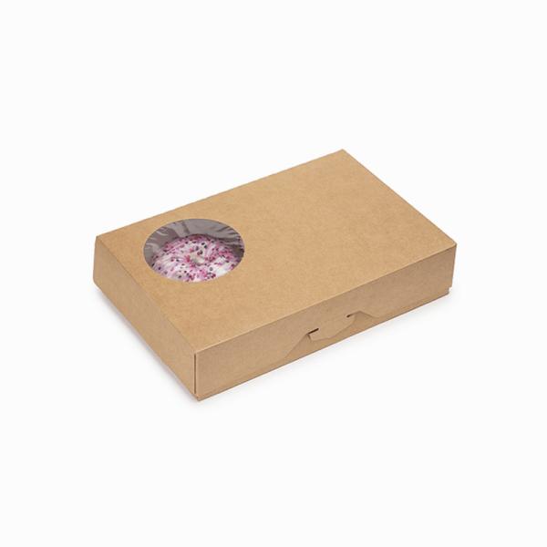 ДоЭко контейнер под десерт ECO Donuts M д/пончиков (150шт)