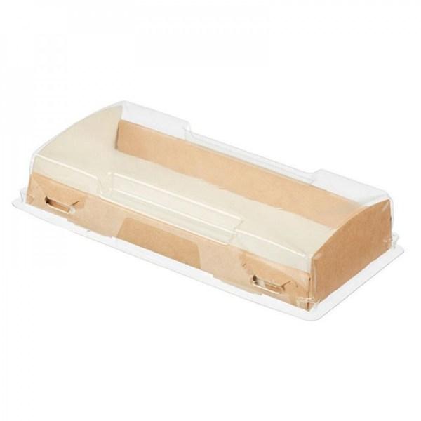 ДоЭко контейнер под десерт OpBox  600 с прозр крышкой 200х100х40 (200шт)