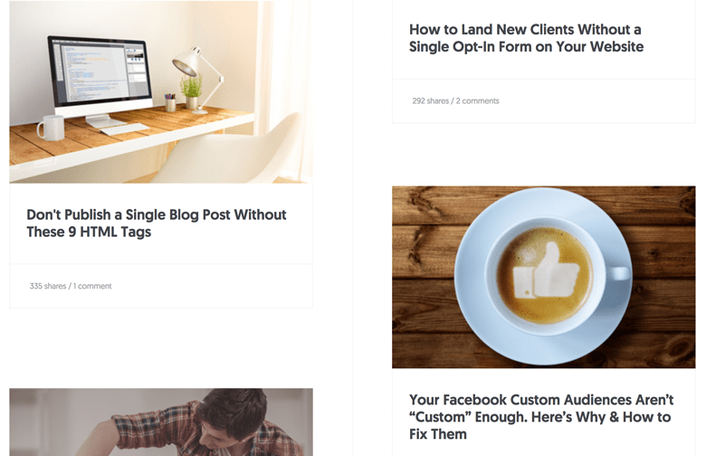 Left to right staggered content in web design