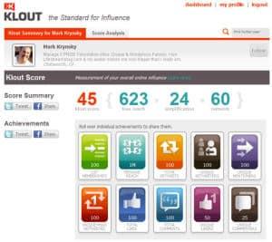 Score Klout