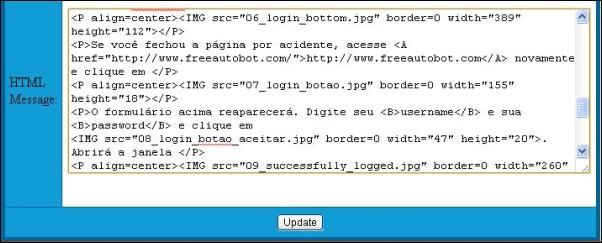Freeautobot html message