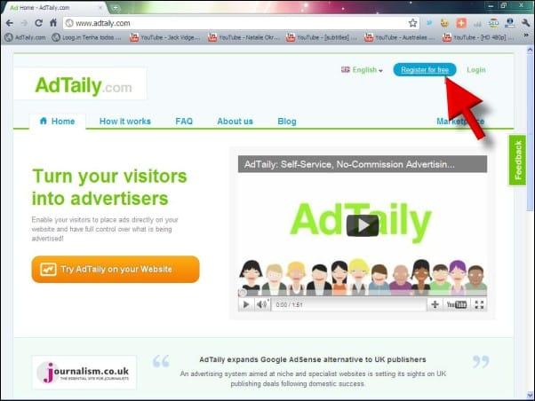 adtaily014 botão de registro adtaily como vender publicidade no seu blog ou site