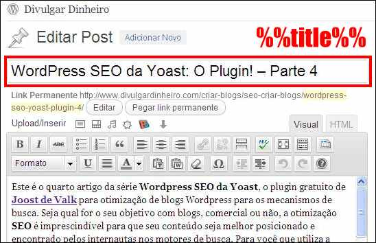 wordpress seo yoast plugin editor post