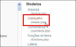 wordpress menu aparencia submenu editor header cabeçalho
