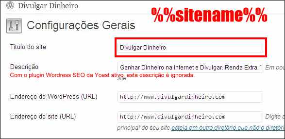 wordpress seo yoast menu configuracoes gerais wordpress
