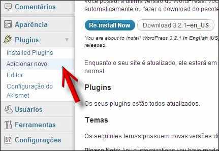 adicionar plugin wordpress