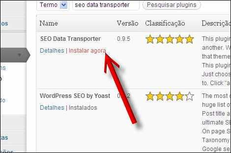 instalar seo data transporter plugin