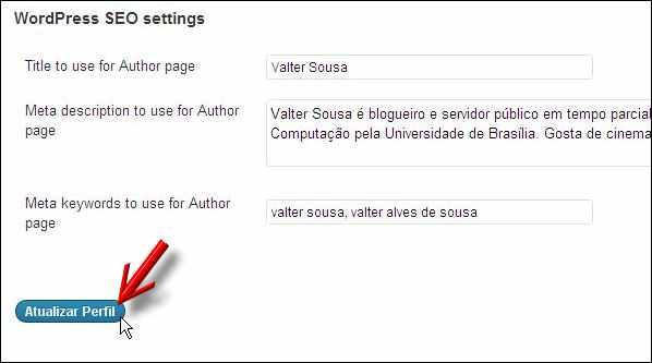 dados perfil usuário wordpress