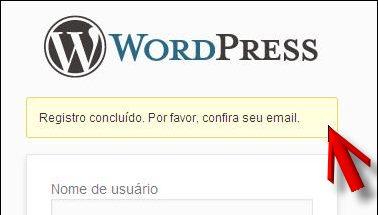 registro concluído verificar email divulgar blogs
