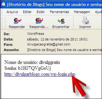 login senha email link acessar divulgar blogs