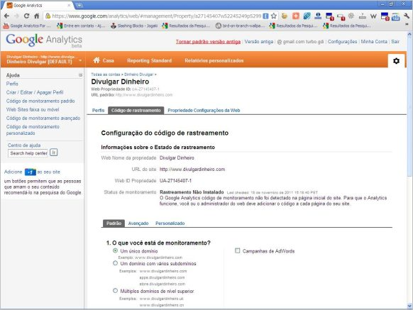 homepage google analytics