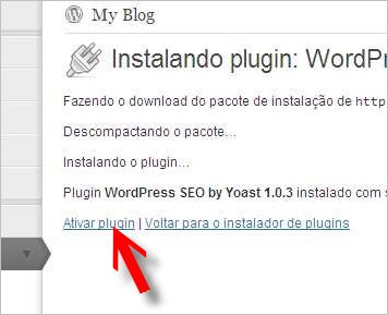 ativar plugin google analytics wordpress yoast