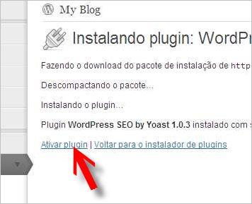 ativar plugin google analytics wordpress yoast