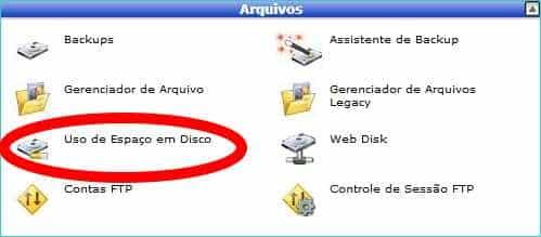 cpanel-uso-espaco-disco
