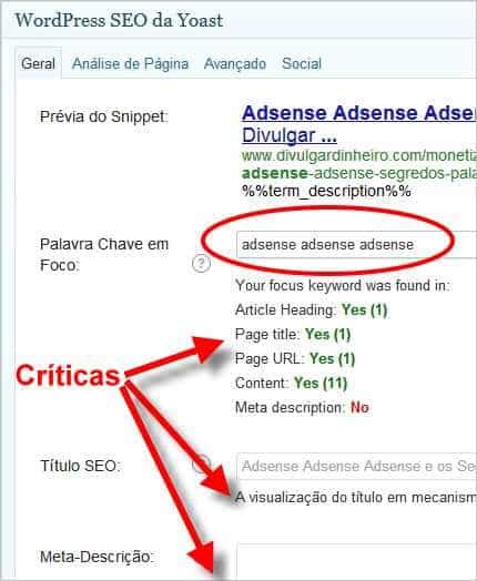 Wordpress SEO Yoast Guia Geral