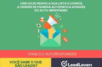 Ame seu lead! Crie agora sua lista de emails e acione seu autorresponder