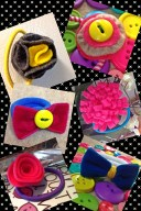 Mixed bag of felt hair accesories