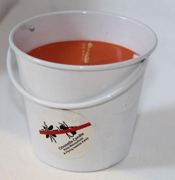 Bucket White Orange