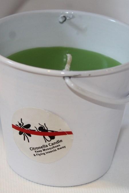 Bucket White Lime Green