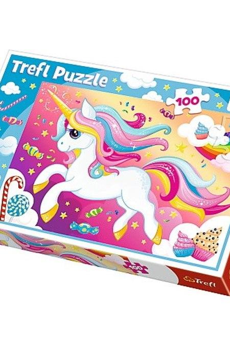Beautiful unicorn Trefl Puzzle 100 (410x278) 100 Pieces 16386