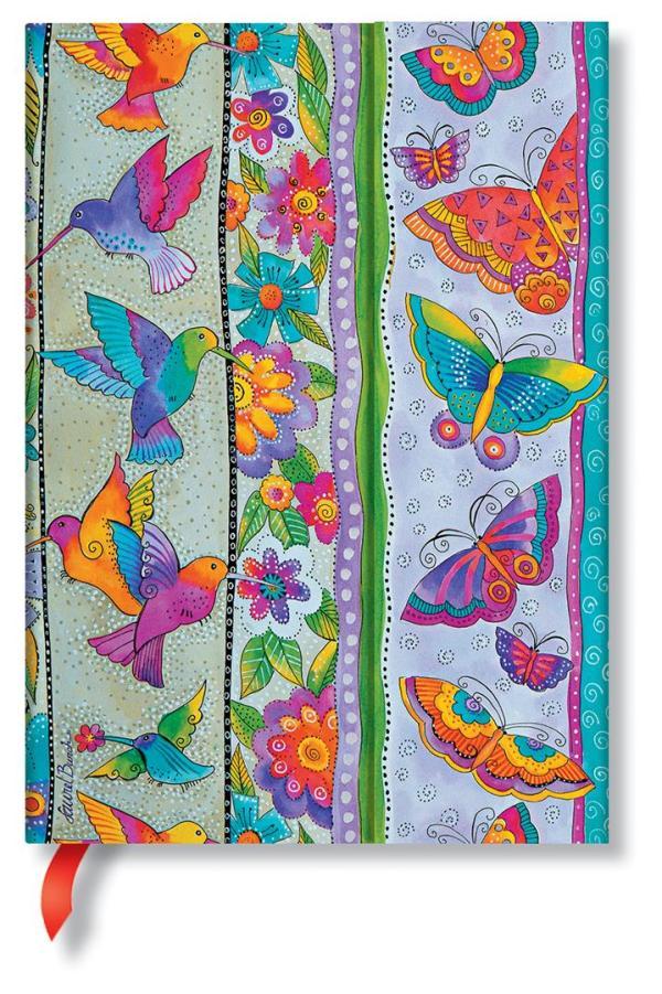 Midi Hummingbirds & Flutterbyes lined Notebook