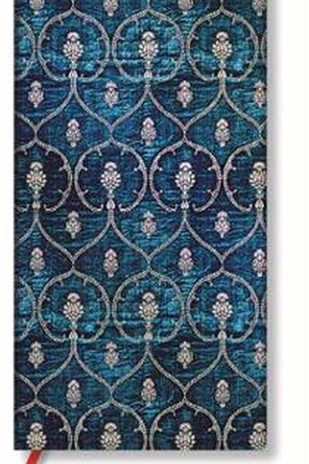 Slim Blue Velvet lined Notebook