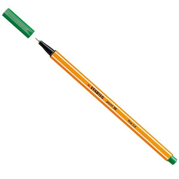 Stabilo Point 88 Green pen 88/