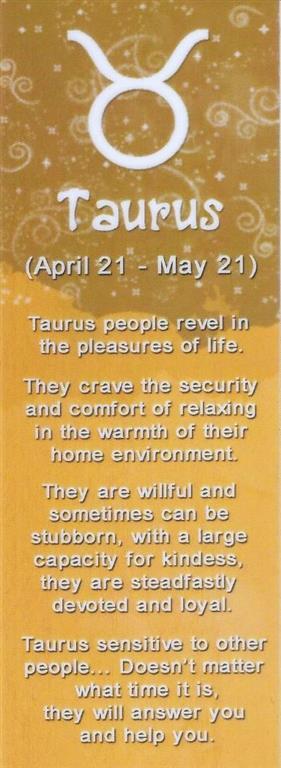 I&Y Taurus Bookmark 21 Apr