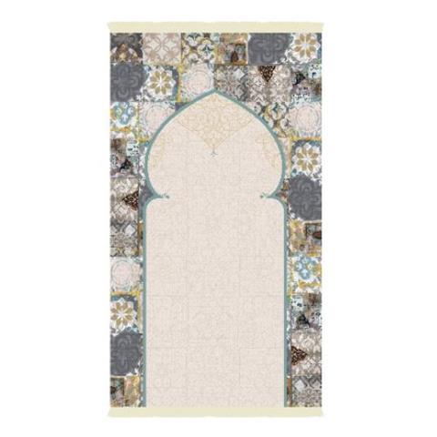 Praying Carpet Arabic Tiles