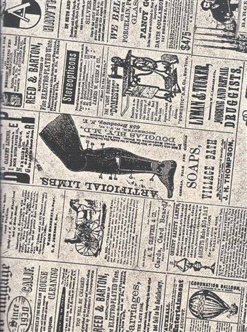Old Newspaper A4 Sketch