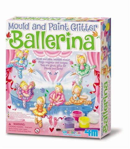 Glitter Ballerina Mould and Paint (3527)