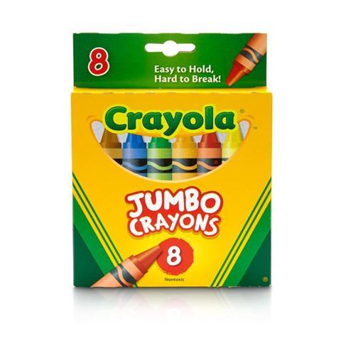 Crayola 8 Jumbo Wax Colours (0080R)