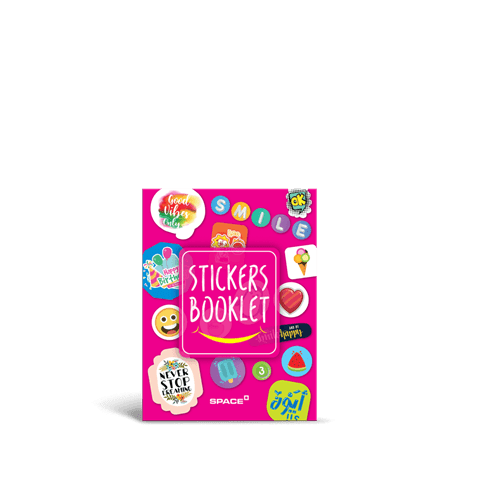 Space Sticker Booklet 9x12 cm 36 Sheets    600 Stickers (SW-4001-5)