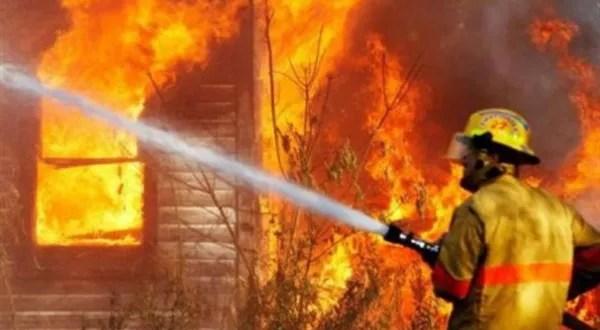 حريق بالمنوفية