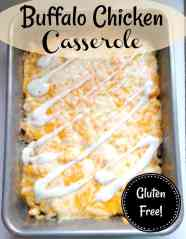 Easy Chicken Buffalo Casserole Recipe Low Carb and Gluten Free