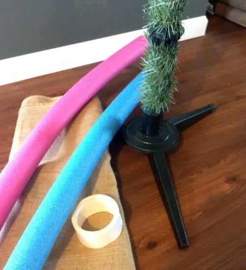 burlap Christmas Tree Skirt Supplies