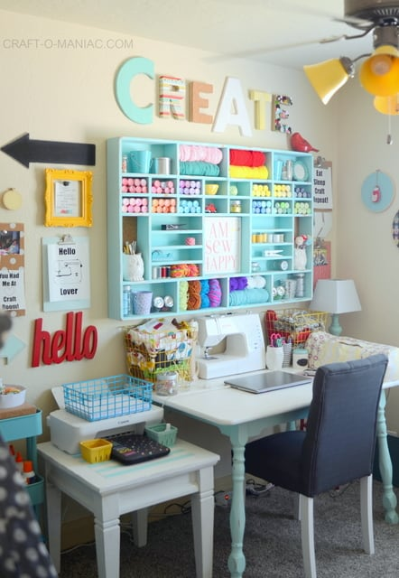 storage cubby for craft supplies