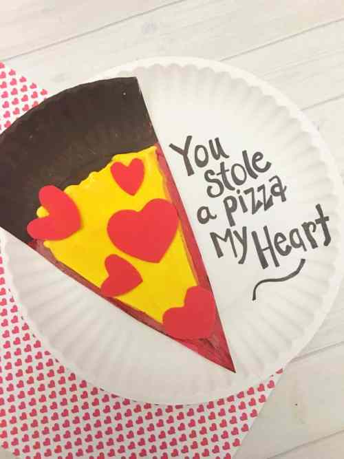 heart pizza valentines day craft